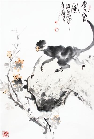"""在绘画领域,""""猴画""""作为一种特殊的题材,也在上千年的中国美术史里留下"""